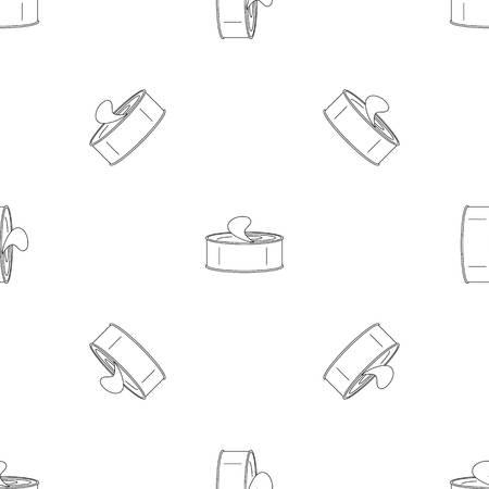 Open tin can pattern seamless vector repeat geometric for any web design Ilustración de vector