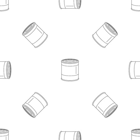 Food tin can pattern seamless vector repeat geometric for any web design