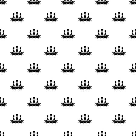 Classic bowling club pattern seamless vector Illustration