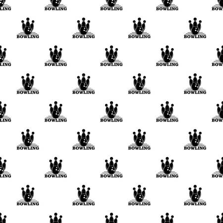 Bowling pattern seamless vector