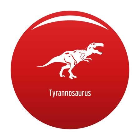 Tyrannosaurus icon vector red