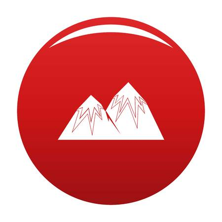 Snow peak icon vector red