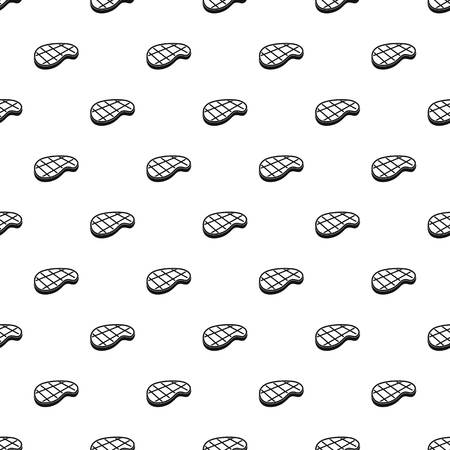 Grilled steak pattern seamless vector repeat geometric for any web design Illustration
