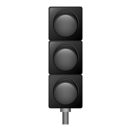 Off traffic lights icon. Realistic illustration of off traffic lights vector icon for web design isolated on white background