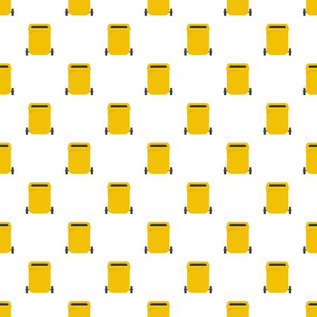 Yellow garbage can pattern seamless vector repeat for any web design Ilustração