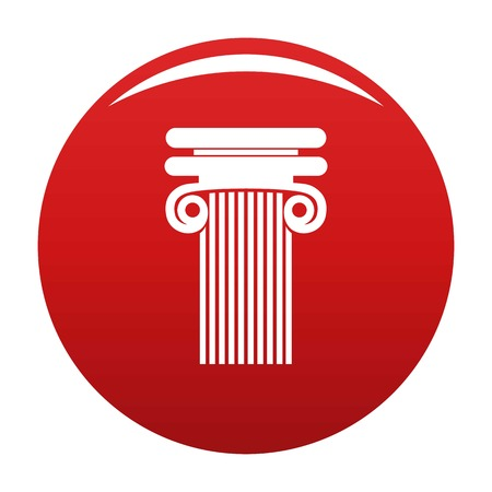 Column with curl icon vector red