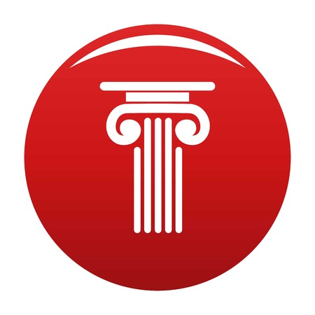 Outer column icon vector red