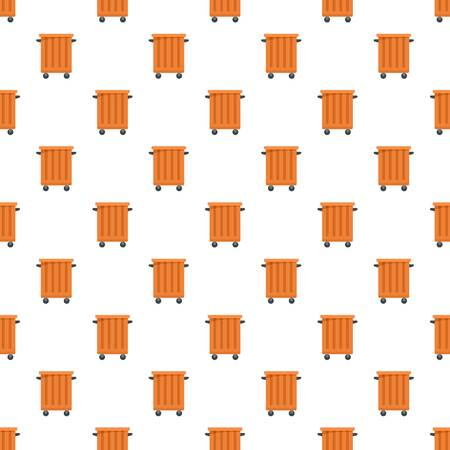 Commercial trash container pattern seamless vector repeat for any web design