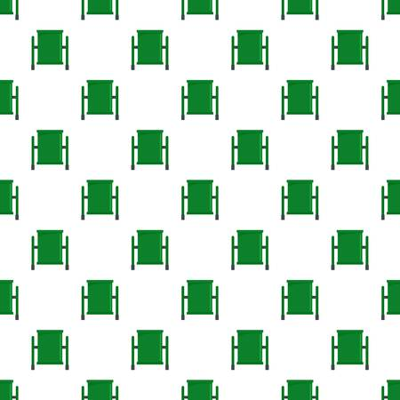 Green trash can pattern seamless vector repeat for any web design Ilustração