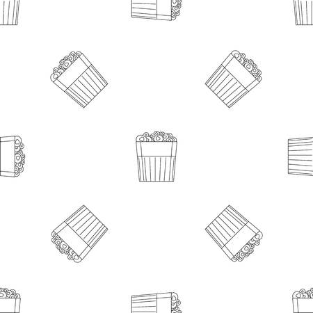 Paper popcorn box pattern seamless vector repeat geometric for any web design
