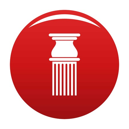 Classical column icon vector red Illustration