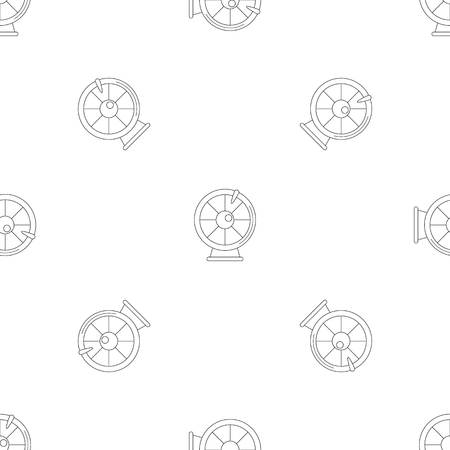 Fortune wheel pattern seamless vector repeat geometric for any web design