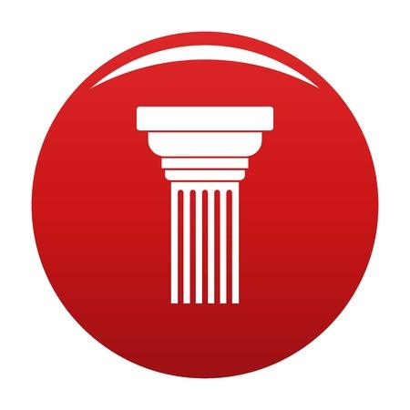 Expanding column icon vector red