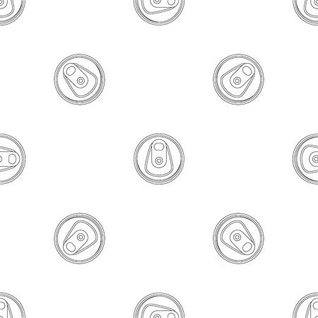 Top tin can pattern seamless vector repeat geometric for any web design Imagens - 124943380