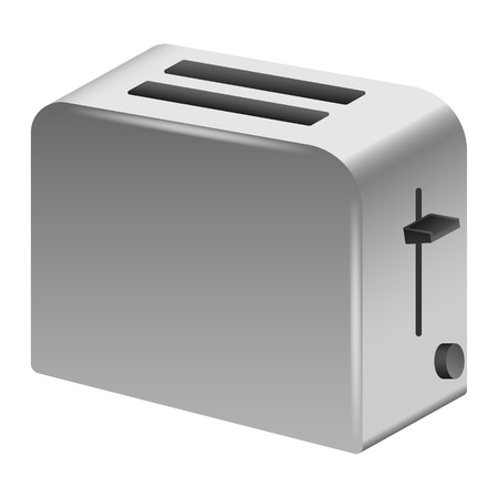 Toaster icon. Realistic illustration of toaster vector icon for web design isolated on white background Standard-Bild - 124943387
