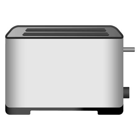 Modern toaster icon. Realistic illustration of modern toaster vector icon for web design isolated on white background Standard-Bild - 124943390