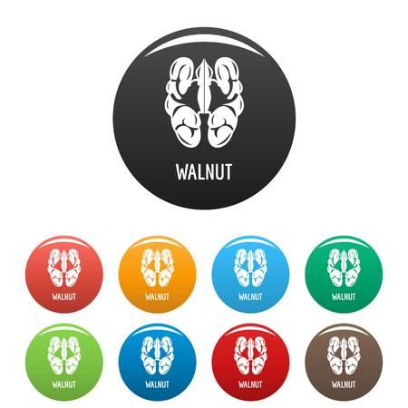 Walnut icons set color