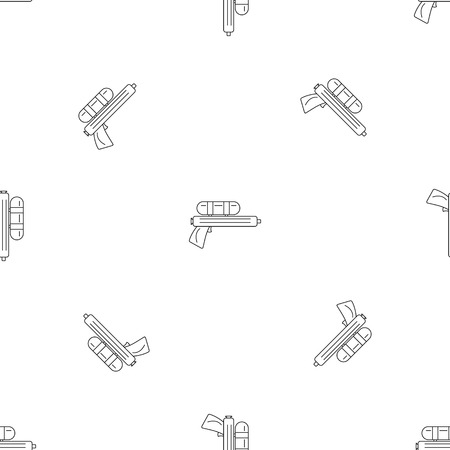 Water gun pistol pattern seamless vector repeat geometric for any web design