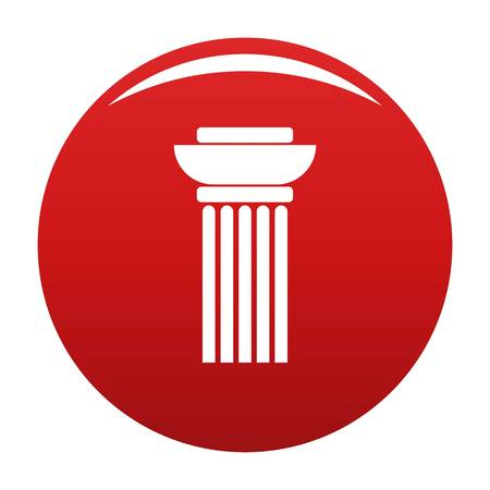 Continuous column icon vector red