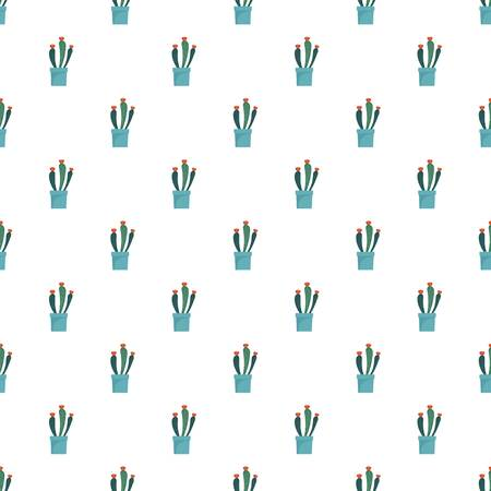 Flower cactus pot pattern seamless vector repeat for any web design Banque d'images - 117519961