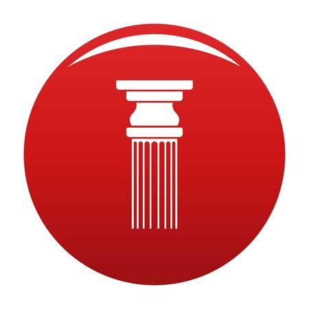 Rectangular column icon vector red