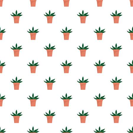 Home cactus pot pattern seamless vector repeat for any web design