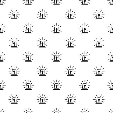 Alarm siren pattern seamless vector repeat geometric for any web design