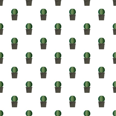 Sphera cactus pot pattern seamless vector repeat for any web design Illustration