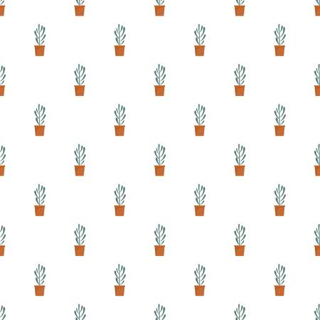 Plant tree cactus pattern seamless vector repeat for any web design