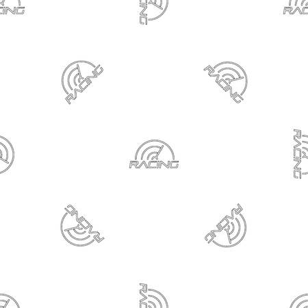 Racing line speedometer pattern seamless vector repeat geometric for any web design Ilustração