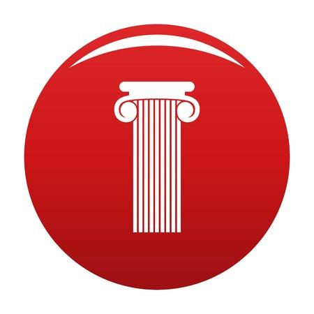 Roman column icon vector red