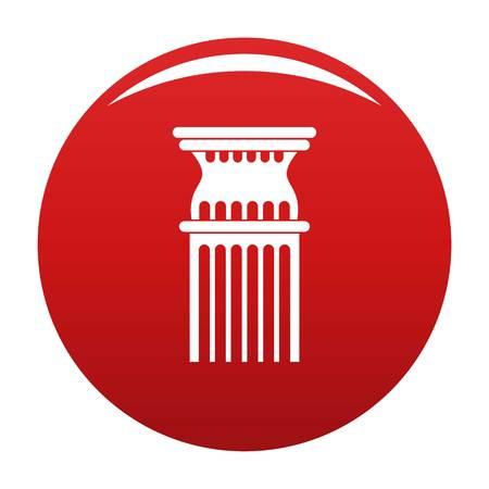 Column icon vector red Illustration