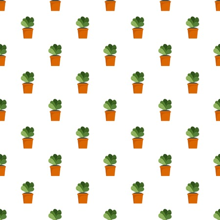 House cacti pot pattern seamless vector repeat for any web design Imagens - 124743284