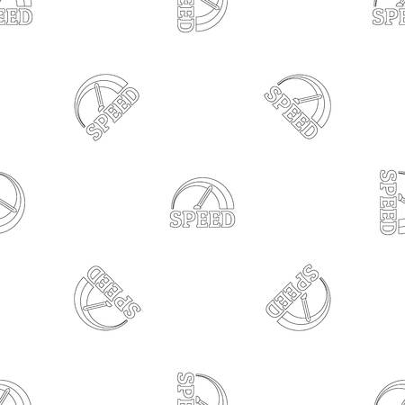 Fire speedometer pattern seamless vector repeat geometric for any web design Imagens - 124743288