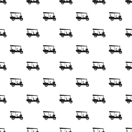 Taxi rickshaw pattern seamless vector repeat geometric for any web design Illustration
