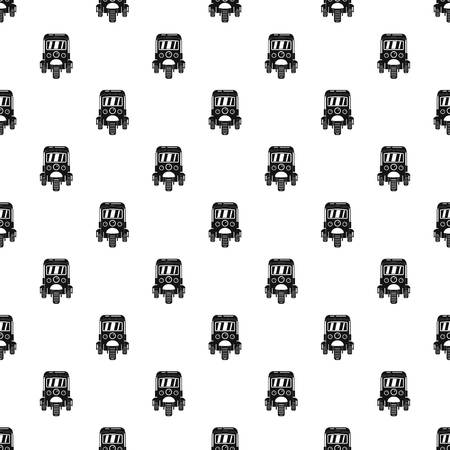 Auto rickshaw pattern seamless vector repeat geometric for any web design Imagens - 124743295