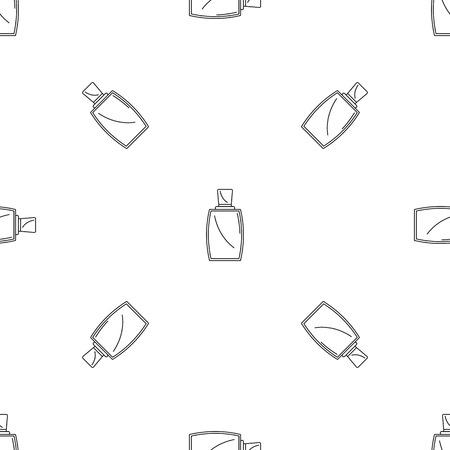 Elegant woman perfume pattern seamless vector repeat geometric for any web design Ilustração