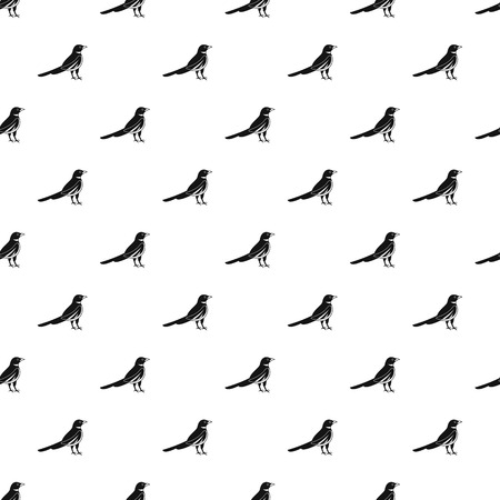 Native magpie pattern seamless vector repeat geometric for any web design Ilustração