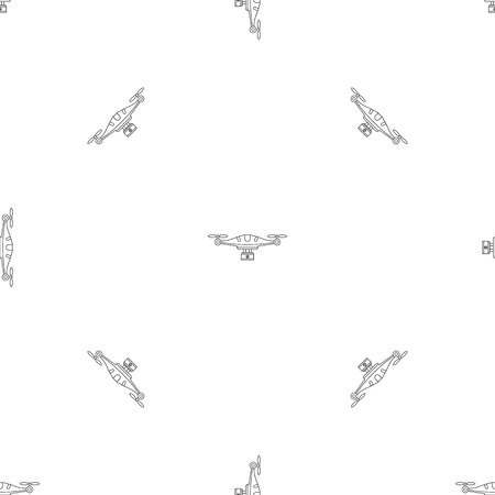 Camera drone pattern seamless vector repeat geometric for any web design