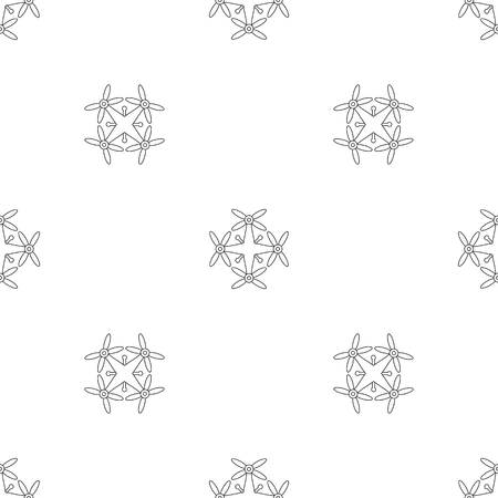 Transport drone pattern seamless vector repeat geometric for any web design Imagens - 124743304