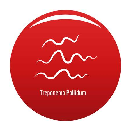 Treponema Pallidum icon vector red