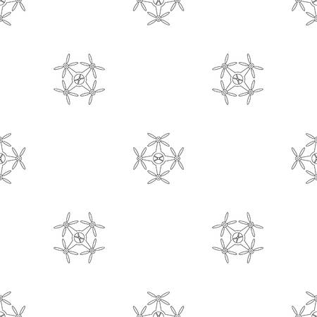 Quadrocopter pattern seamless vector repeat geometric for any web design Imagens - 124743305