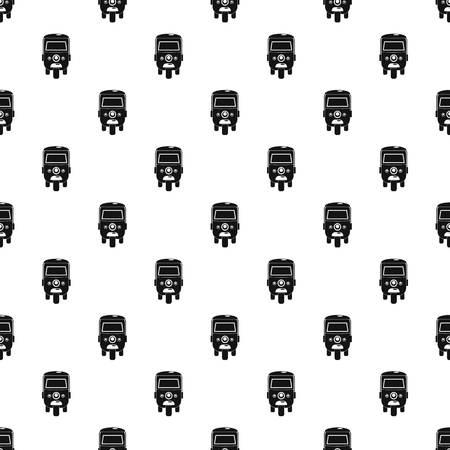 Rickshaw pattern seamless vector repeat geometric for any web design Imagens - 124743307