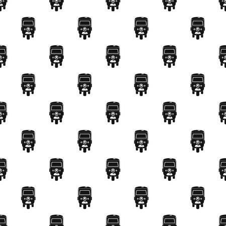 Rickshaw pattern seamless vector repeat geometric for any web design Illustration