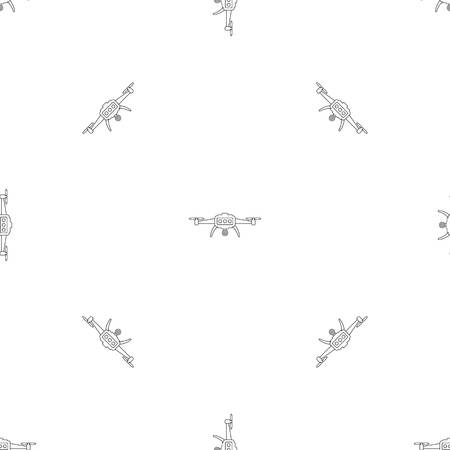 Smart drone pattern seamless vector repeat geometric for any web design Imagens - 124743309