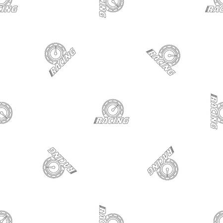 Racing dashboard pattern seamless vector repeat geometric for any web design Imagens - 124743312