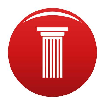 Italian column icon vector red