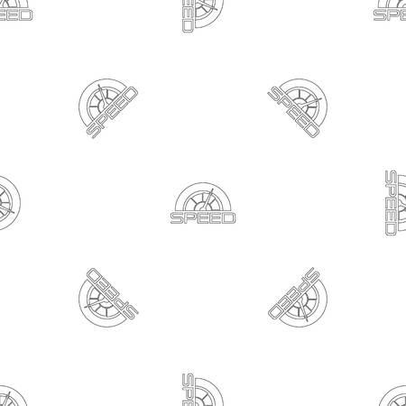 Trendy speedometer pattern seamless vector repeat geometric for any web design Imagens - 124743313