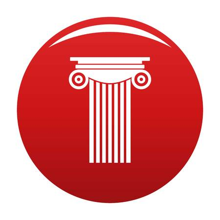 Reinforced concrete column icon vector red