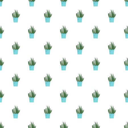 Cacti pot pattern seamless vector repeat for any web design Imagens - 124743316